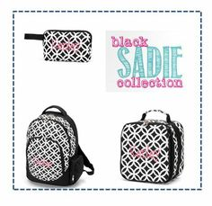 Kids will really look sweet toting this black ensemble around. Perfect for back to school!! www.thepreppypair.com #preppy #monogram #backtoschool