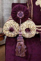 Royal Purple Gold Moroccan Sofa