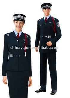 Latest design cool security guard uniform