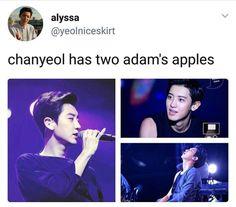 He stole Baek's Adam's apple hahaga