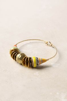 gold bracelet with paper beads from Uganda
