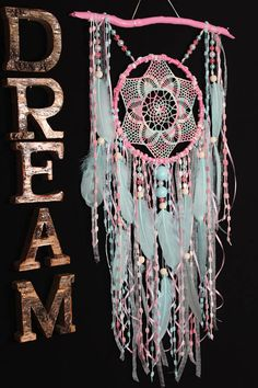 Spreesy is Joining the CommentSold Family! Old Wine Bottles, Recycled Wine Bottles, Wine Bottle Crafts, Dream Catcher Pink, Dream Catcher Craft, Dream Catchers, Clay Pot Crafts, Shell Crafts, Yarn Crafts