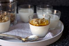 greek yogurt panna cotta with walnuts and honey by smitten, via Flickr