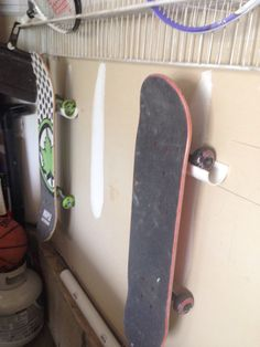 PVC skateboard rack holder