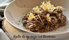 Risotto de ajo negro con thermomix - Arroces y patatas con thermomix - Thermomix Arroz Risotto, Cook Pad, Good Food, Awesome Food, Cereal, Grains, Rice, Beef, Cooking