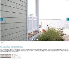 Maibec Seacoast 204 Exterior Color Schemes, Exterior Paint Colors, Corridor Design, Fireplace Built Ins, Cedar Shingles, Deck Design, Man Cave, House Plans, New Homes