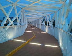 studio PP8 designs pedestrian & cyclist bridge for expo milan 2015