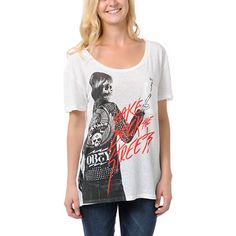 Obey Girls Punker Chick Throwback Tee Shirt