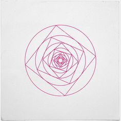 #273A rose is a rose – A new minimal geometric composition each day