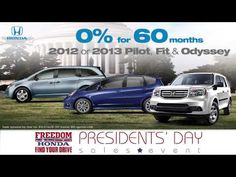 Freedom Honda of Colorado Springs Presidents Day Event. Spot and concept adapted for radio scripts as well.