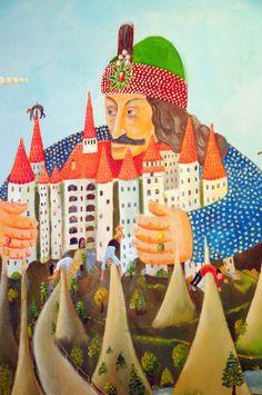 """Vlad Tepes (Naive Romanian Art) by ileanap Via Flickr: A portrait of the (in)famous Vlad Tepes (aka Vlad Dracul, aka Dracula). """
