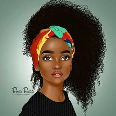 Balanced Color, nice tone and excellent art. Art Black Love, Black Girl Art, My Black Is Beautiful, Black Girls Rock, Black Girl Magic, Art Girl, African American Art, African Art, Black Girl Cartoon
