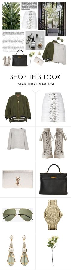 """""""I've been absolutely terrified every moment of my life - and I've never let it keep me from doing a single thing I wanted to do."""" by iiina ❤ liked on Polyvore featuring Moncler, Manokhi, Wes Gordon, Zimmermann, Yves Saint Laurent, Hermès, Michael Kors and Elizabeth Cole"""