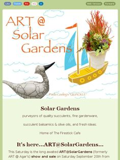 Check out this Solar Gradens newsletter