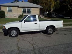 1992 toyota pickup truck.  Don't remember if 92 is the right year, but close.  Had a camper topper on the back that would open on both sides.  Great travel vehicle.