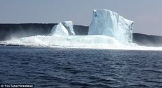 Making a splash: Wanda Stead panicked when she saw the large wave coming toward her boat after the iceberg collapsed