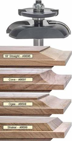 MLCS Raised Panel Router Bits with Undercutter The Effective Pictures We Offer You About Woodworking Techniques pocket hole A quality picture can tell you many things. Woodworking Router Bits, Wood Router, Router Woodworking, Woodworking Techniques, Woodworking Shop, Woodworking Projects, Woodworking Apron, Youtube Woodworking, Woodworking Machinery