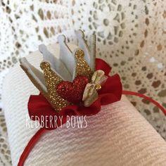 REINA de CORAZONES CORONA diadema con rojo corazón por redberrybows