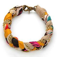 braided silk necklace