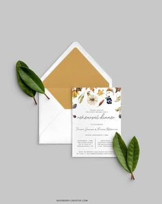 Fall Rehearsal Dinner Printable Template Fall Leaves Wedding image 0