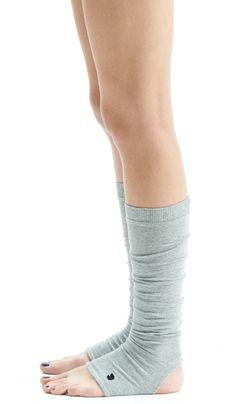 Gray Yoga Spats / Yoga Leg Warmers /