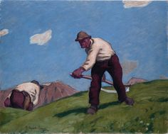 Albin Egger-Lienz, Zwei Bergmäher, 1913, Öl auf Leinwand. (Foto: Museum Schloss Bruck) William Adolphe Bouguereau, Little Fish, Museum, Tempera, Wassily Kandinsky, Sculpture, Canvas, Painting, Inspiration
