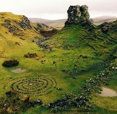 Fairy glen on isle of skye, Scotland