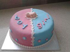 Zwanger jongen / meisje taart - pregnant boy / girl cake