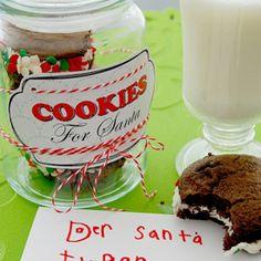 Cookies for Santa Printable - Free Pretty Printables