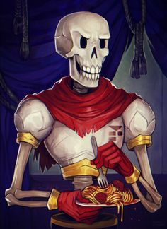 It is I, the great Papyrus! Nyeh heh heh!
