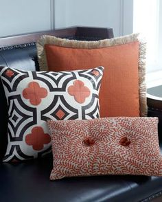 Ginger, spice and orange accent pillows