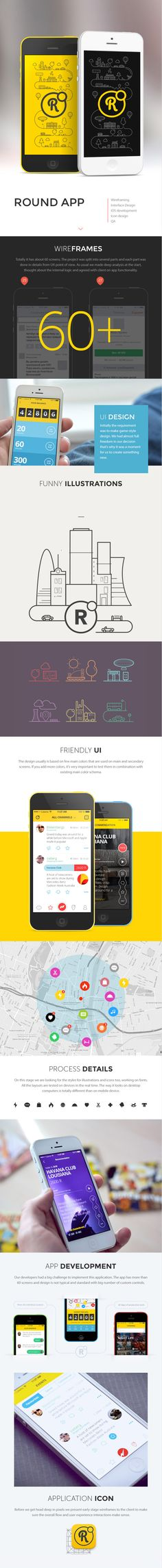 Round iPhone app. #ui #interface #mobile