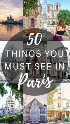 50 things you must see in paris, France- everything you should see, do, visit, eat and buy in the city of love! Travel in Europe. Paris France Travel, Paris Travel Guide, Europe Travel Tips, European Travel, Travel Destinations, Paris France Fashion, Backpacking Europe, Travel Deals, Travel Abroad