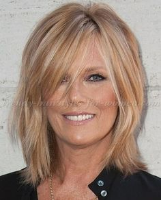 Fantastic Tips: Older Women Hairstyles Over 50 women hairstyles short bangs.Women Hairstyles Over 50 Round Faces. Bangs With Medium Hair, Medium Hair Cuts, Medium Hair Styles, Short Hair Styles, Mid Length Hair Styles For Women Over 50, Medium Cut, Over 50 Hair Styles, Shoulder Length Hair Styles For Women, Shoulder Length Layered Hair