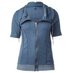 Weiche Halbarm-Shirtjacke