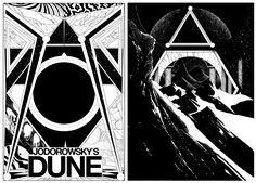 Two Jodorowskys Dune poster sketches from last year.