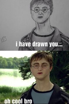 Daniel Radcliffe with an oddly off-centered face: | The 30 Most Horrifying Fan Tributes Of All Time