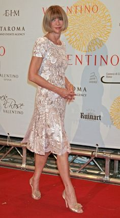 Vogue Editor Anna Wintour at Valentino 45th Anniversary Celebration - Gala Arrivals - July 7, 2007 in Rome, Italy
