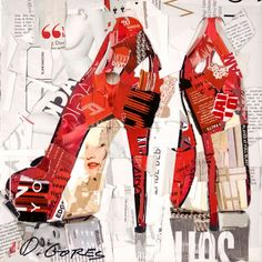 In his collage portraits, Derek Gores recycles magazines, labels, data, and assorted foundanalog and digital m Paper Collage Art, Collage Artwork, Mixed Media Collage, Paper Art, Collages, Art Journaling, Derek Gores, Collage Portrait, Recycled Magazines