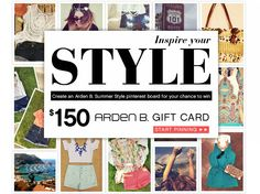 Enter the #ardenb Inspires Your Style contest! #ardenbinspired