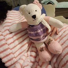 Sock Yarn Pinafores and Cardigans plus Little Bear Scarf Yarn Dolls, Knitted Dolls, Teddy Bear Knitting Pattern, Knitting Patterns, Amigurumi Patterns, New Girl, Teddy Bear Toys, Alpaca, Mary Janes