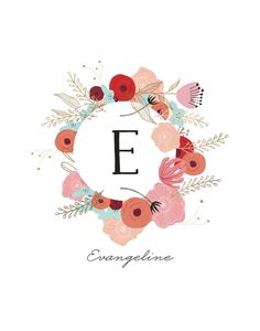 Vintage Floral Monogram by Hannah Williams for Minted