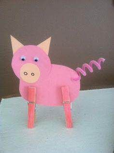 Clothes Pin Pig