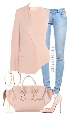 """Happy Easter "" by highfashionfiles on Polyvore featuring Anine Bing, DKNY, CÉLINE, Christian Louboutin and Lana"