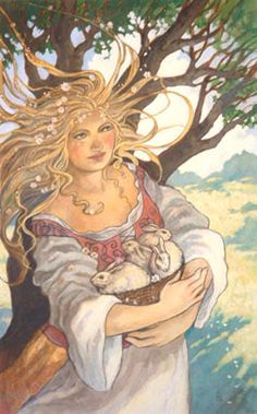 The goddesses of springtime, Persephone, Ishtar, and Ostara, bring us the message of awakening and personal growth. Their gift is the motivation and the energy we need to pursue our dreams. As the tender green buds begin to leaf out around us, our own lives are refilled with vital energy.  Spring is the time to make room in our hearts for a passion for all things new. And it helps to use a little bit of magic and . . .