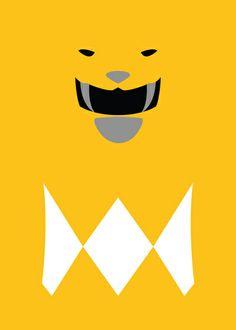 Power Rangers - Yellow Ranger Minimalist Art Print