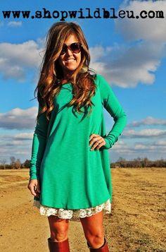 Jade Babydoll Dress- S,M,L $89.00 www.shopwildbleu.com