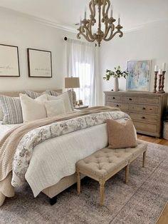 Master Room, Master Bedroom Makeover, Master Bedroom Design, Dream Bedroom, Home Decor Bedroom, Decorating A Bedroom, Master Bedroom Furniture Ideas, Cozy Master Bedroom Ideas, Shabby Chic Master Bedroom