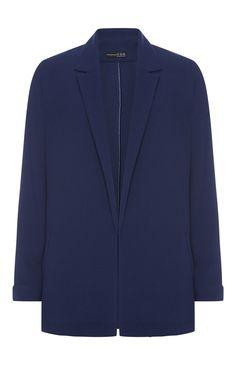 Navy Mid Length Crepe Jacket £17.00