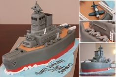 Battleship birthday cake